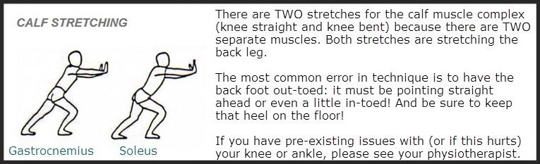 stretch your calf to help prevent heel blisters