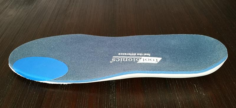 Oval Engo Patch on an orthotic