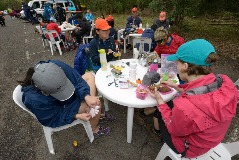 Foot care at multiday athletic events - Oxfam Trailwalker