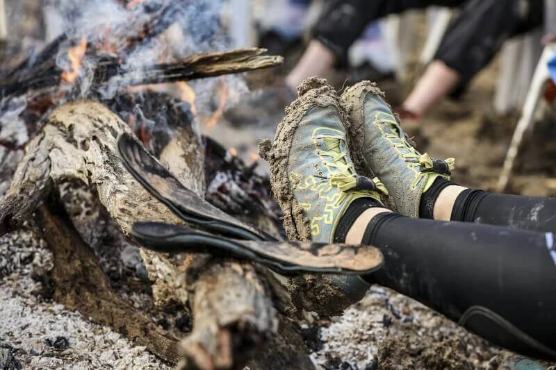Drying shoes, socks, insoles and feet was a big part of 2016's Big Red Run