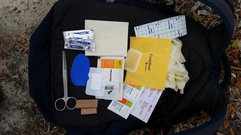 lay out your blister kit and see what's missing. get ready now for getting out of the house, finally