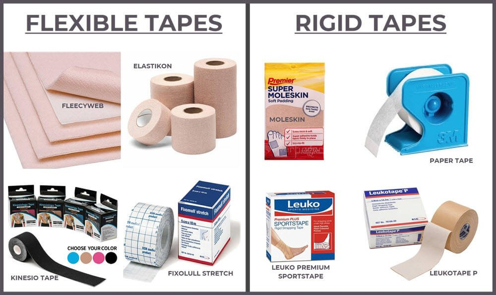 types of blister tapes - rigid and flexible