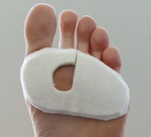 Donut pads for blisters made from 7mm felt by a podiatrist