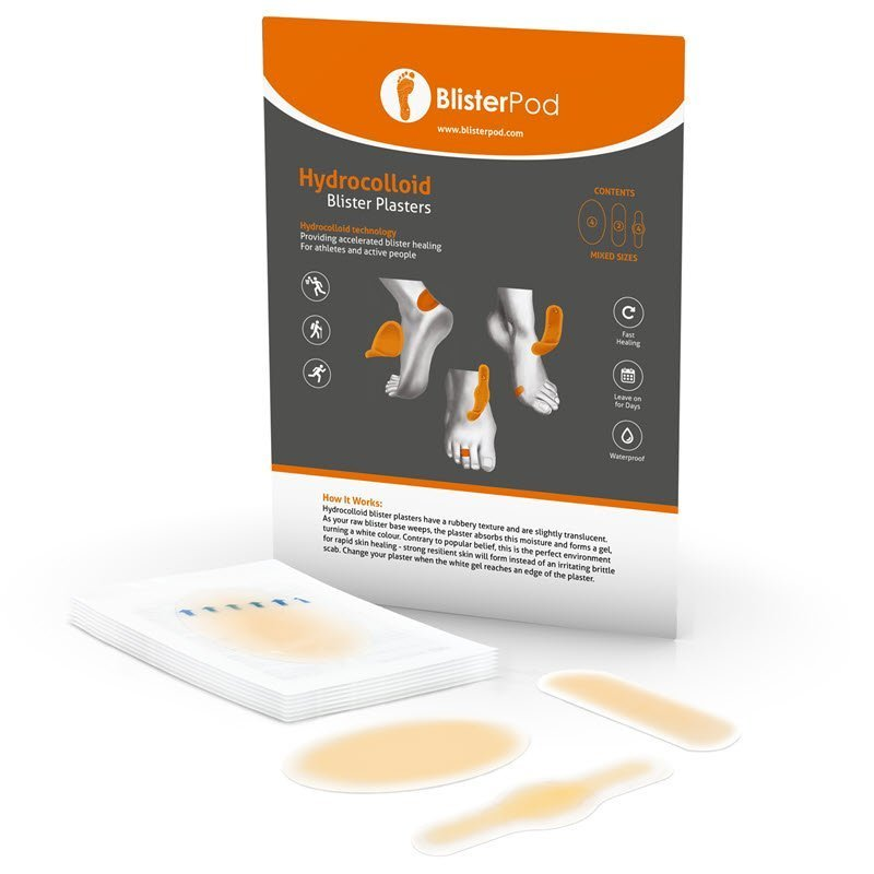 BlisterPod Hydrocolloid Blister Plasters MIXED 10-Pack