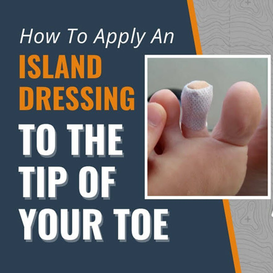How to apply an island dressing to the tip of your toe thumb 882