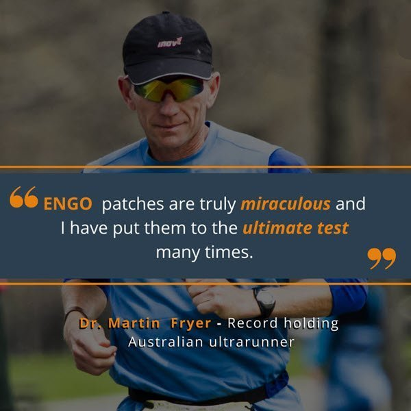 Martin Fryer ultramarathon blister pevention with engo patches