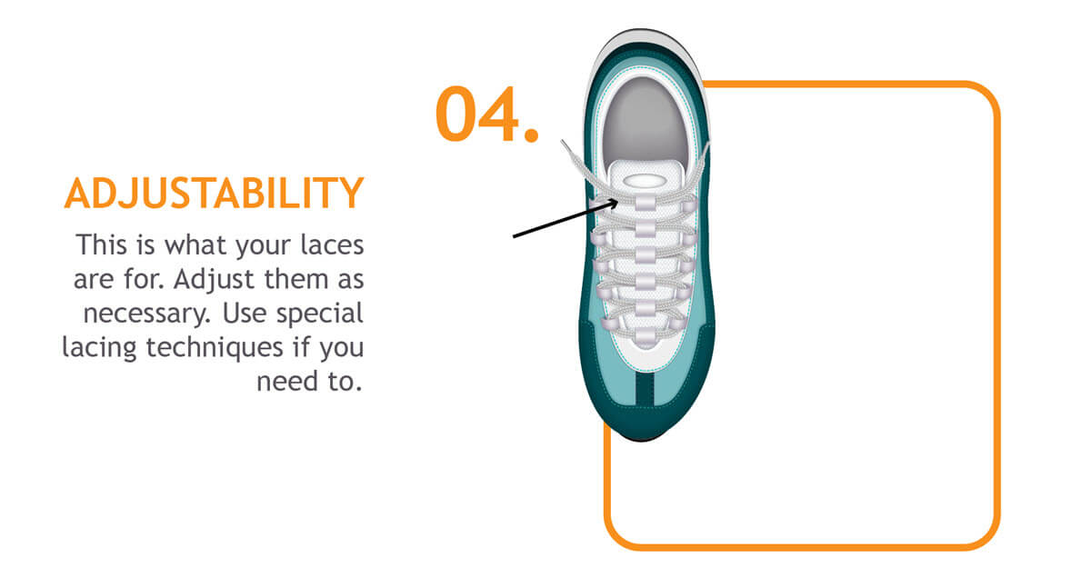 adjustability aspect of shoe fit for blister prevention