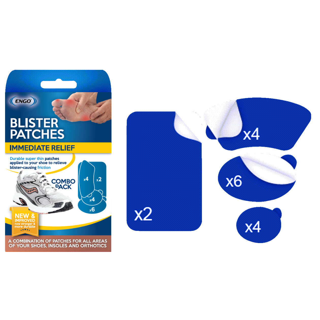 ENGO Blister Patches Combo Pack