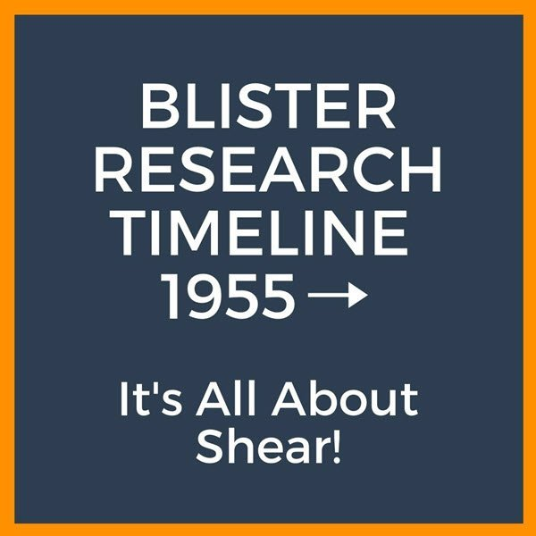 Blister research timeline all about shear