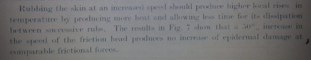 Blister research from Naylor 1955: Heat doesn't seem to increase blister incidence