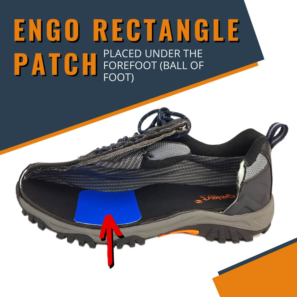 ENGO Blister Patches Rectangle Pack patch under ball of foot